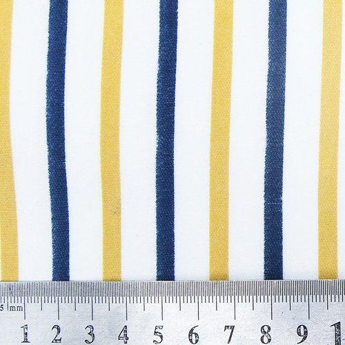 Ткань на отрез интерлок пенье Двухцветная полоска 58-18 фото 4