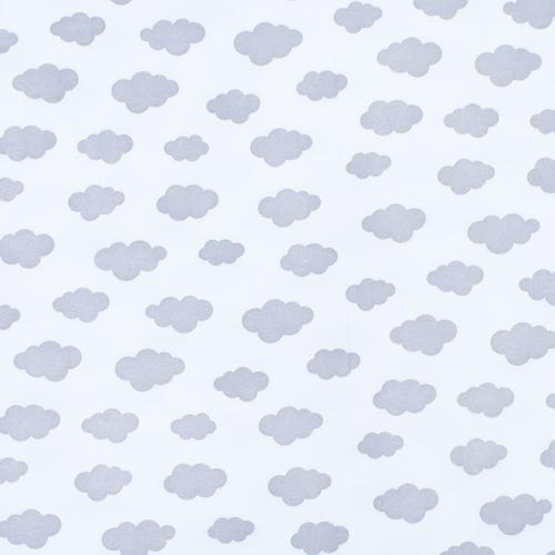 Ткань на отрез интерлок пенье Облака серые 5745-17 фото 1