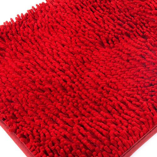 Коврик для ванной Makaron 50/80 цвет красный фото 1