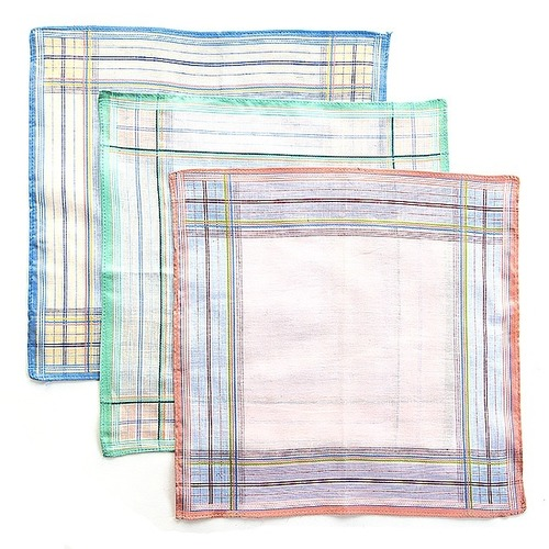 Платки носовые мужские 29х29 Амин расцветки в ассортименте 12 шт фото 3