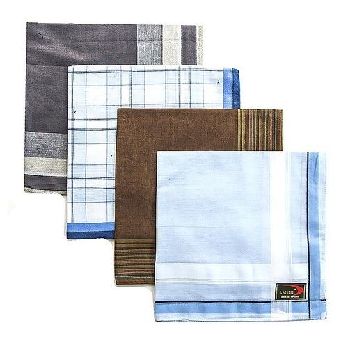 Платки носовые мужские 40х40 Амин расцветки в ассортименте 12 шт фото 1
