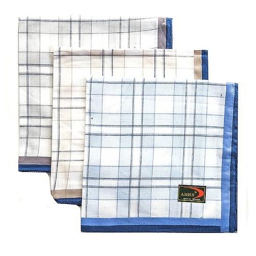 Платки носовые мужские 40х40 Амин расцветки в ассортименте 12 шт фото 3