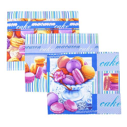 Набор вафельных полотенец 3 шт 50/60 см 19578/1 Сладкая жизнь фото 1