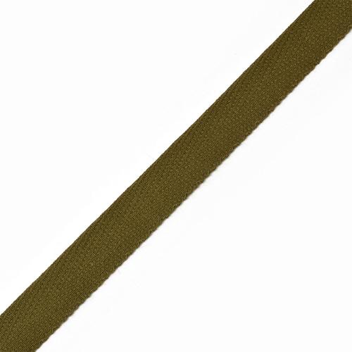 Тесьма киперная 10 мм хлопок 1.8 гр/см цвет оливковый фото 1