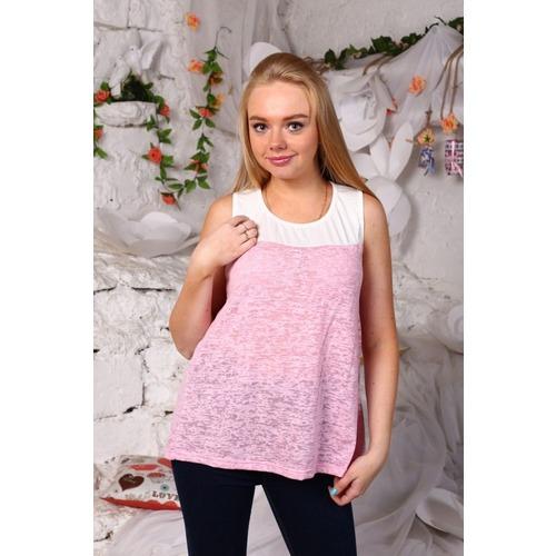 Блузка Майка облегченная Розовая В252 р 44 фото 1