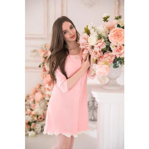 Халат Бенни 6185 цвет розовый р 46 фото 1