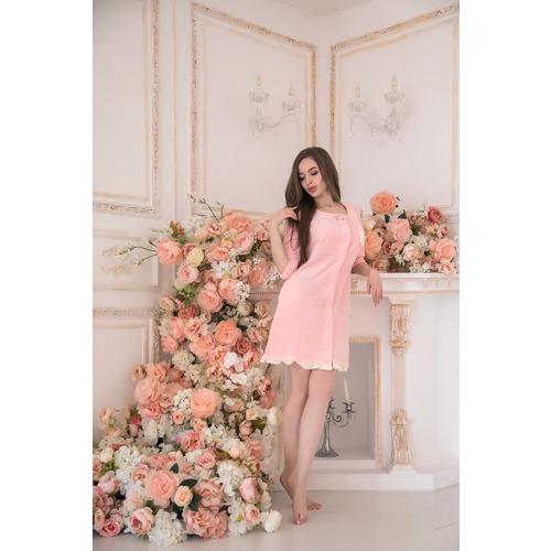 Халат Бенни 6185 цвет розовый р 48 фото 4