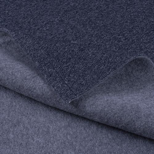 Мерный лоскут футер 3-х нитка компакт пенье меланж цвет синий 6.2 м фото 1