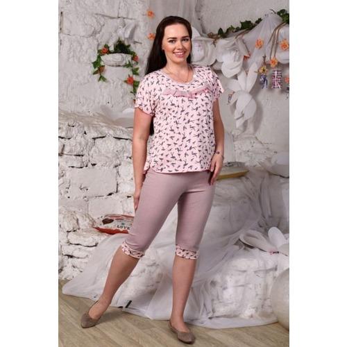 Пижама Хлучинская Розовый Фламинго Б15 р 44 фото 1