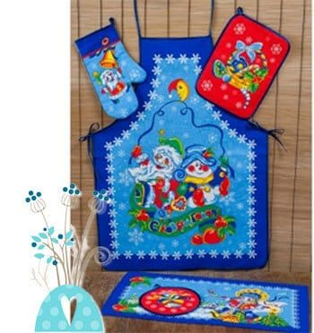 Кухонный набор С Новым годом, 5 предметов купить